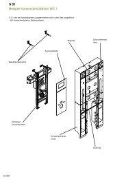S 01 Beispiel Vorwandinstallation WC I - HEWI