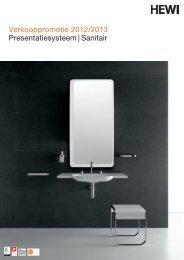 Verkooppromotie 2012/2013 Presentatiesysteem   Sanitair - HEWI