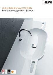 Verkaufsförderung 2013/2014 Präsentationssysteme | Sanitär - HEWI