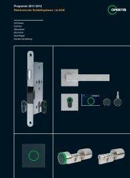 Programm 2011 /2012 | Elektronische Schließsysteme ... - HEWI