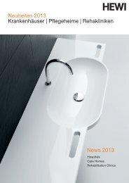 Neuheiten 2013 Krankenhäuser | Pflegeheime ... - HEWI