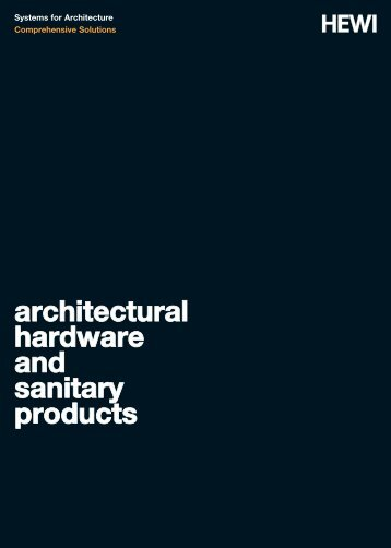 architectural hardware and sanitary products - HEWI