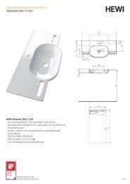 Gegevensblad van het product Wastafel 950.11.201 - HEWI