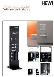 Promotion des ventes 2011 Systèmes de présentations - HEWI