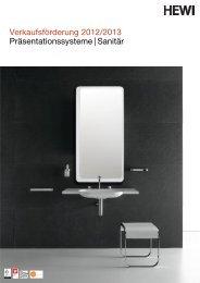 Verkaufsförderung 2012/2013 Präsentationssysteme | Sanitär - HEWI