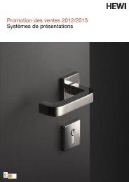 Promotion des ventes 2012/2013 Systèmes de présentations - HEWI