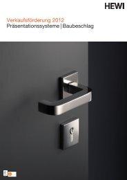 Verkaufsförderung 2012 Präsentationssysteme | Baubeschlag - HEWI