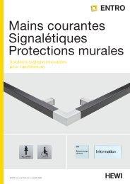Mains courantes Signalétiques Protections murales - Entro.de