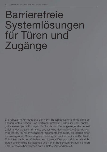 Beschläge mit System - HEWI
