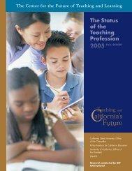 The Status of the Teaching Profession 2005 - Eric - U.S. Department ...