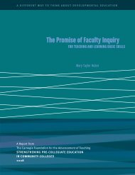 The Promise of Faculty Inquiry for Teaching & Learning Basic Skills