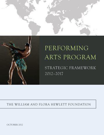 PERFORMING ARTS PROGRAM - Hewlett Foundation