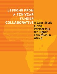 lessons from a ten-year funder collaborative - Partnership for Higher ...