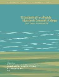 Carnegie Pre Collegiate Ed In Comm Colleges - Transition ...