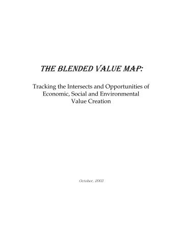 THE BLENDED VALUE MAP: - Hewlett Foundation