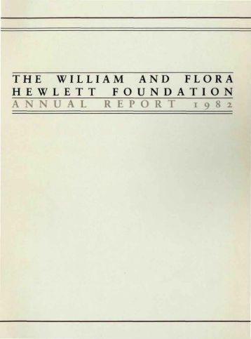 investment policy at the hewlett foundation The william and flora hewlett foundation has been making grants since 1967 to solve social and environmental problems at home and around the world goals hewlett's first priority was to.