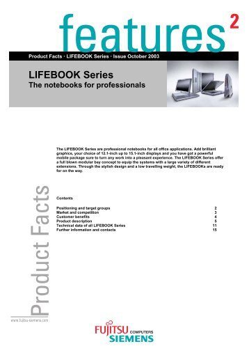 LIFEBOOK Series The notebooks for professionals - Icecat