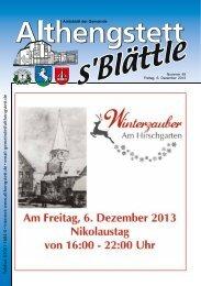KW 49/2013 - Althengstett