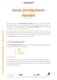 SWISS SPONSORSHIP AWARDS
