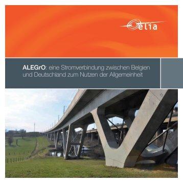 ALEGrO: eine Stromverbindung zwischen Belgien und ... - Elia