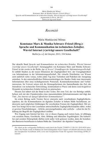Konstanze Marx & Monika Schwarz–Friesel (Hrsg.) - ARGUMENTUM