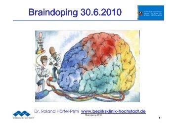 Braindoping 30.6.2010 - Kommunalunternehmen Kliniken und ...