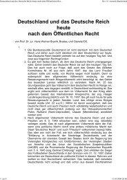 Deutsches Reich heute und öffentliches Recht - Hexenhort.de