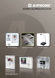 Aiphone Bildpreisliste 2013