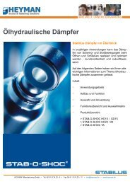 Ölhydraulische Dämpfer - Heyman