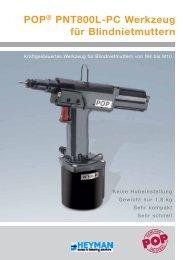POP® PNT800L-PC Werkzeug für Blindnietmuttern - Heyman