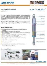 LIFT-O-MAT Gasfeder - Heyman
