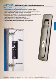 Mehrpunkt-Verriegelungssysteme - Heyman