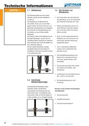 Technische Informationen - Heyman