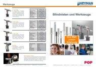 Blindnieten und Werkzeuge - Heyman