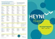 Das junge Programm - Heyne fliegt