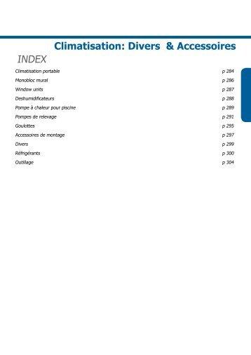 Climatisation: Divers & Accessoires INDEX - Heynen-cool