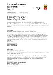 Universalmuseum Joanneum Presse Giornate Triestine Triest-Tage ...