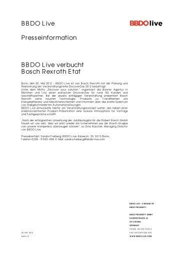 Pressemitteilung zum Download - BBDO Live