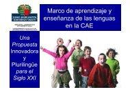 Marco de aprendizaje y enseñanza de las lenguas en ... - Euskadi.net