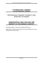 Demographic analysis and labour market in Euskadi
