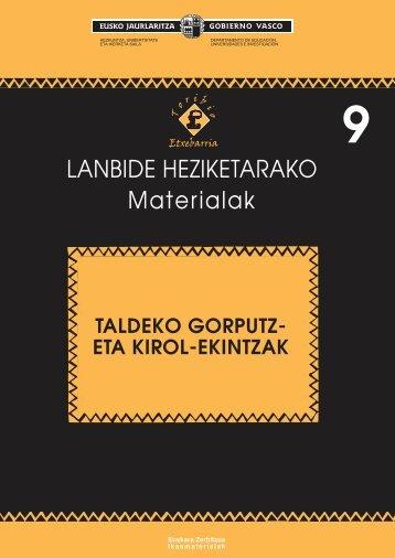 952009e - Hezkuntza, Unibertsitate eta Ikerketa Saila - Euskadi.net