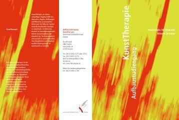 Download Aufbaustudiengang KunstTherapie Flyer - Hochschule für ...