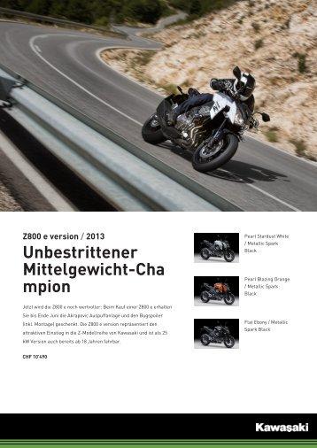 Datenblatt Z800 e - Zwei-Rad-Sport Elgg