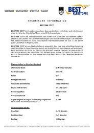 Technische Informationen - BEST Klebstoffe