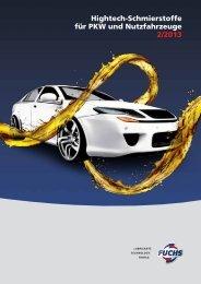 Hightech-Schmierstoffe für PKW und Nutzfahrzeuge 2/2013