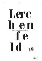 Newsletter der Hochschule für bildende Künste Hamburg. April 2013