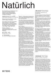 mehr (PDF) - Hochschule für bildende Künste Hamburg
