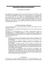 Satzung über besondere Zugangsvoraussetzungen für die ...