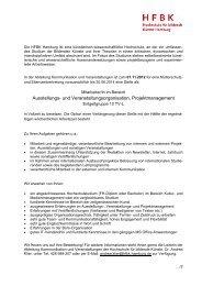 Ausstellungs- und Veranstaltungsorganisation, Projektmanagement