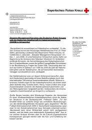 Desaster-Management-Kongress des ... - Bayerisches Rotes Kreuz